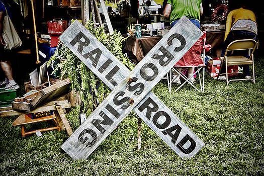 Sharon Popek - Railroad Crossing Sign