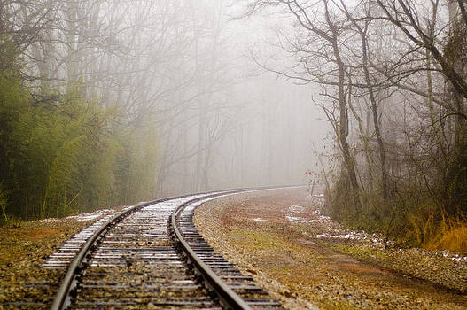 Railroad in Fog by Thomas Taylor