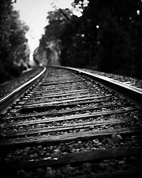Lisa Russo - Railroad Landscape in Black and White