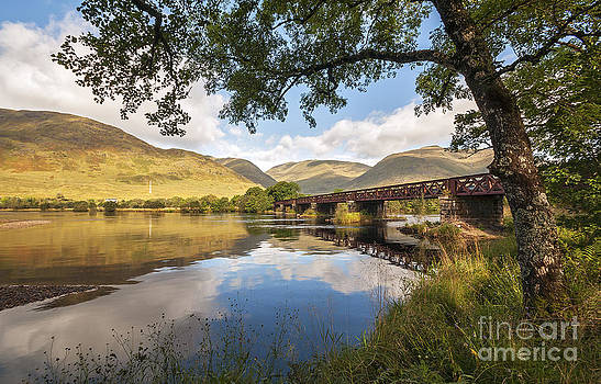 Railway Viaduct Over River Orchy by Bel Menpes