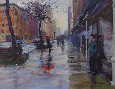 Rain and Smoke on Amsterdam Avenue by Peter Salwen