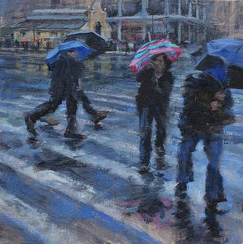 Broadway Wet and Windy by Peter Salwen