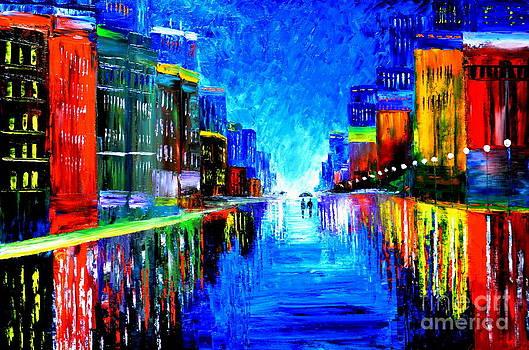 Rain in the city by Mariana Stauffer
