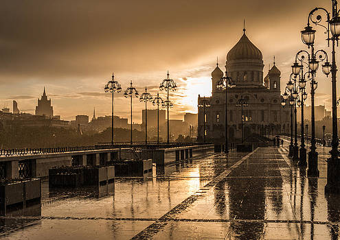 Rain in the Moscow by Philipp Polischuk