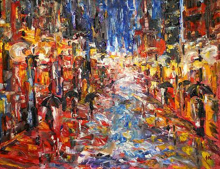 Rain On 5th Ave by Helen Kagan