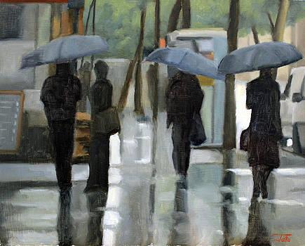 Rain on Saint Germain by Tate Hamilton