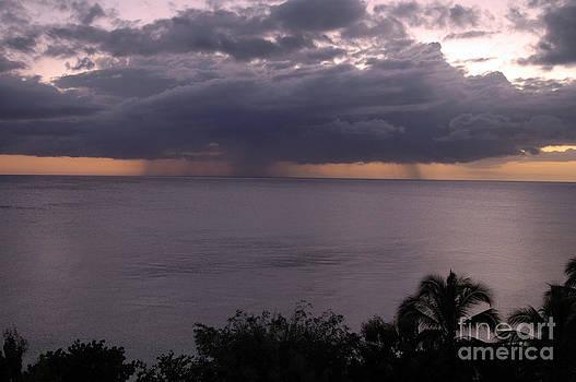 Rain on the ocean by Angela Kail