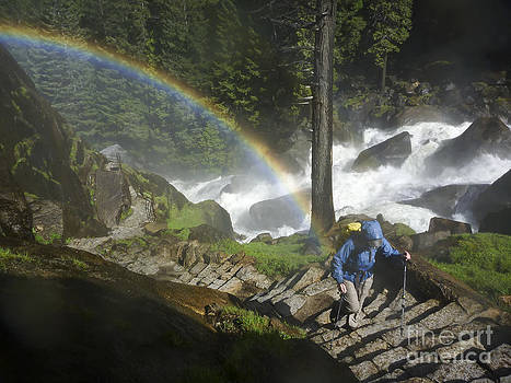 Rainbow Ascent of the Mist Trail by Cheryl Wood