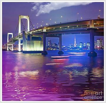Rainbow Bridge at night by Stefano Senise