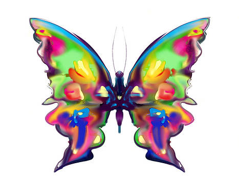 Rainbow Butterfly by Maureen Kealy
