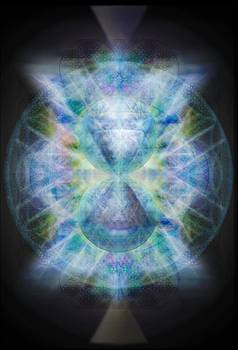 Rainbow Chalice Cell iSphere Matrix II by Christopher Pringer