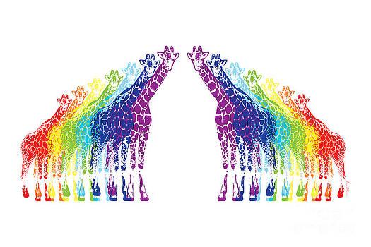 Rainbow Giraffes by Beauty Balance Design