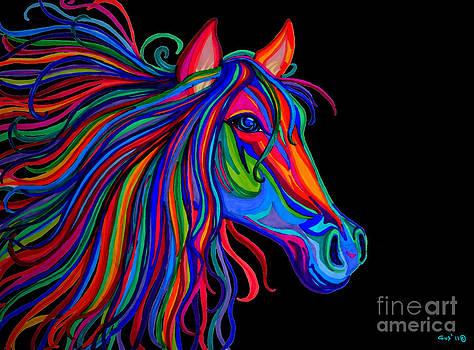 Nick Gustafson - Rainbow Horse Head