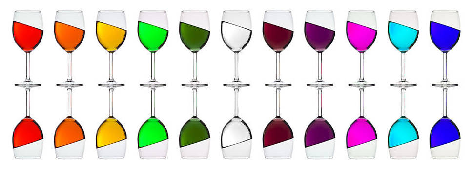 Rainbow in a glass by Andrew Munro