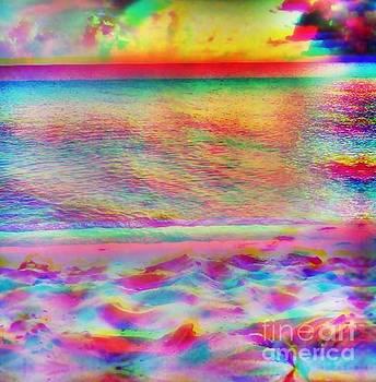 Rainbow island art by Wyn Charlery