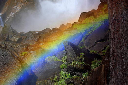 Anne Barkley - Rainbow Light at Vernal Falls
