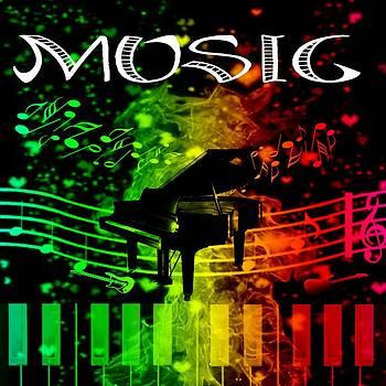 Rainbow Musical Artwork by Courtney Dutton