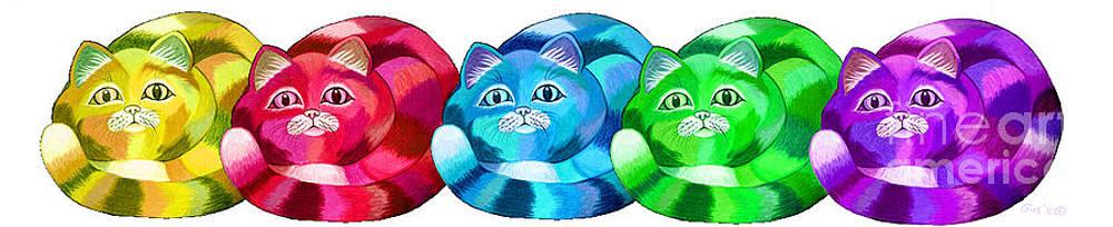 Nick Gustafson - Rainbow of Cats