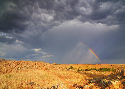 Rainbow on the Plains by Sarah Rodefeld