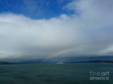 Rainbow over Alcatraz by Avis  Noelle