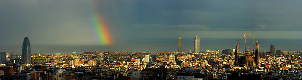 Rainbow over BCN by Julia Moral