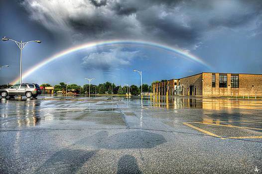 Rainbow Over Roseville MI 8/9/13 by A And N Art