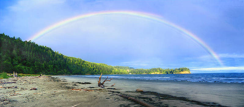 Rainbow Panoramic by Rod Mathis