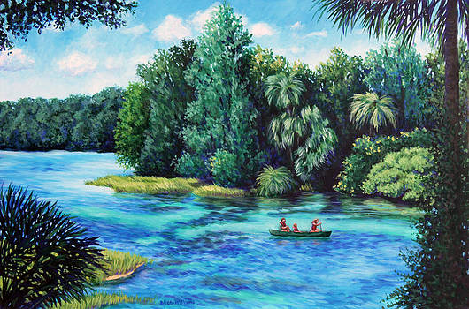 Rainbow River at Rainbow Springs Florida by Penny Birch-Williams