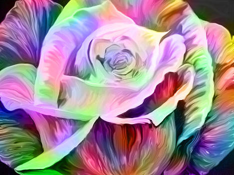Rainbow Rose by Faye Giblin