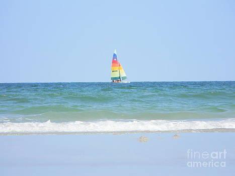 Rainbow Sailboat by Joanne Askew