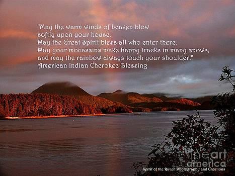 Rainbow Sitka  by Dawna Raven Sky