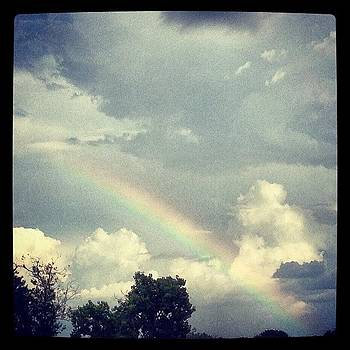 #rainbow #sky #atx #austin #clouds by Greta Olivas