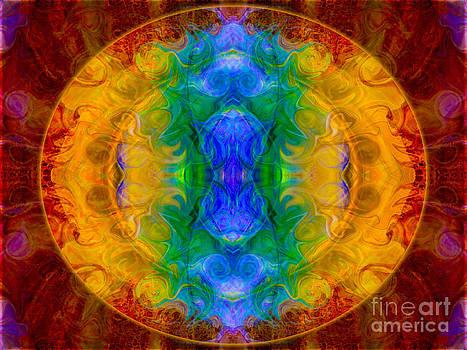 Omaste Witkowski - A Rainbow of Chaos Abstract Mandala Artwork by Omaste Witkowski