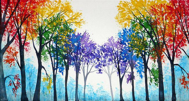 Rainbow trees by Ann Marie Bone