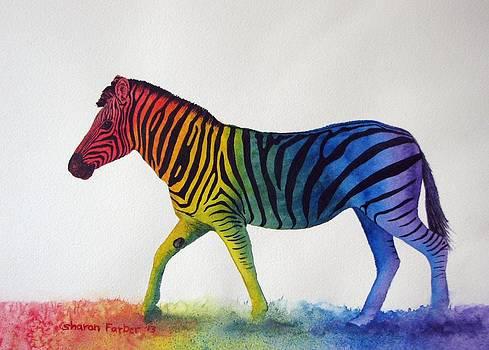 Rainbow Zebra III by Sharon Farber