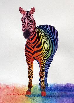 Rainbow Zebra IV by Sharon Farber