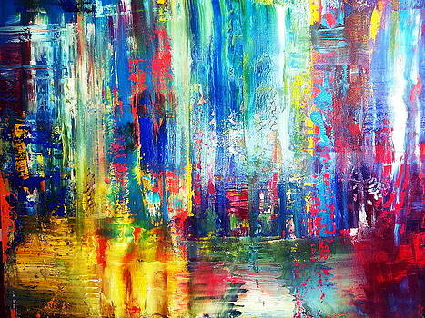 Rainbow3 by Tanya Lozano Abstract Expressionism