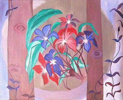 Rainforest flowers by Manju Ganna