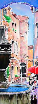 Raining in St-Paul de Vence by Hisayo Ohta
