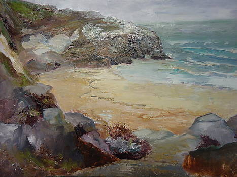 Luz Perez - Rainy Day at Montara Beach