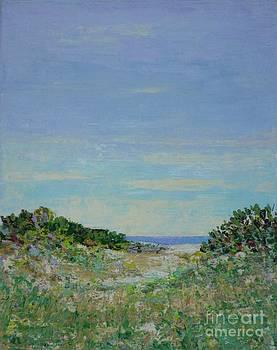 Rainy Day Beach Blues by Gail Kent