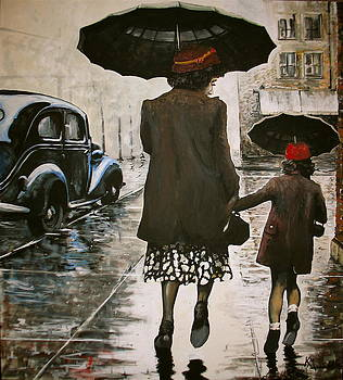 Rainy Day Shopping by Kevin Meredith