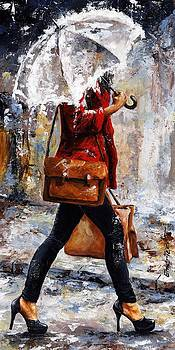 Rainy day - Woman of New York 17 by Emerico Imre Toth