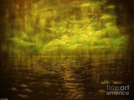 Rainy Night over Norway-ORIGINAL SOLD-Buy Giclee Print Nr 20 of Limited Edition of 40 prints by Eddie Michael Beck