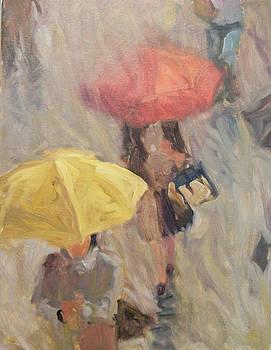 Rainy Umbrellas by Margaret Aycock