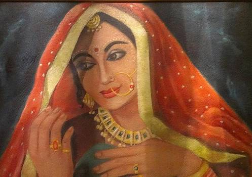 Rajasthani bride by Kamal Gill