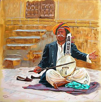 Rajasthani Folk Artiste by Ramesh Jhawar