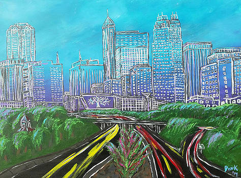 Raleigh Art Deco Skyline by Dink Densmore