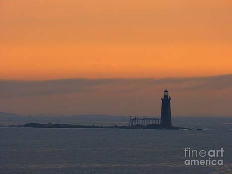 Christine Stack - Ram Island Lighthouse at Sunrise