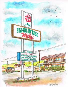 Ramblin Rose Motel in Route 66, Andy Devine Ave., Kingman, Arizona by Carlos G Groppa